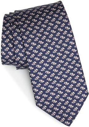 Salvatore Ferragamo Gemello Print Silk Tie
