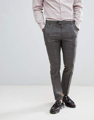 Next Skinny Fit Suit Pants In Natural Check