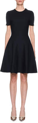 Marni Two-Tone Short-Sleeve Fit-&-Flare Dress