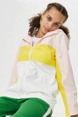 Topshop Petite Colour Block Rain Mac