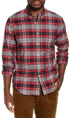 J.Crew J. Crew Classic Fit Plaid Pima Cotton Oxford Shirt