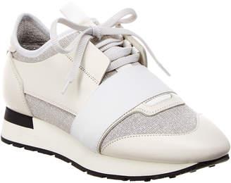 Balenciaga Classic Glitter Stretch-Leather Sneaker
