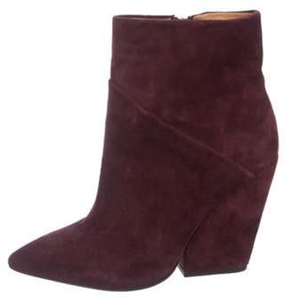 IRO Suede Ankle Boots silver Suede Ankle Boots