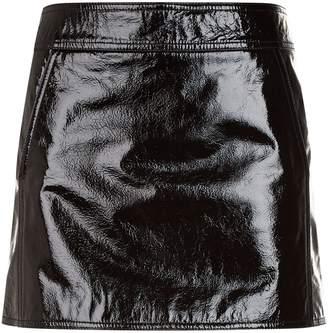 Saint Laurent Patent Leather Mini Skirt
