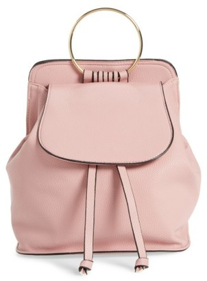 Amici Accessories Ring Handle Backpack - Pink