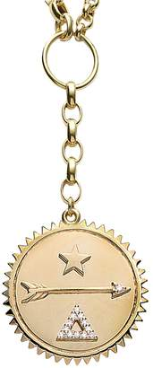 Foundrae Large Dream Medallion On Mixed Belcher Necklace