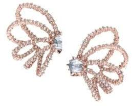 Alexis Bittar Crystal Lace Orbiting Rose Goldtone Post Earrings