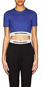 Paco Rabanne Women's Logo Crop Top - Blue