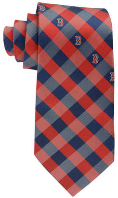 Eagles Wings Boston Red Sox Checked Tie