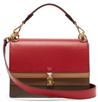 Fendi Kan I Leather Shoulder Bag - Womens - Red Multi