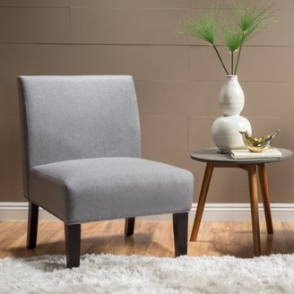 Noble House Kacey Grey Fabric Accent Chair