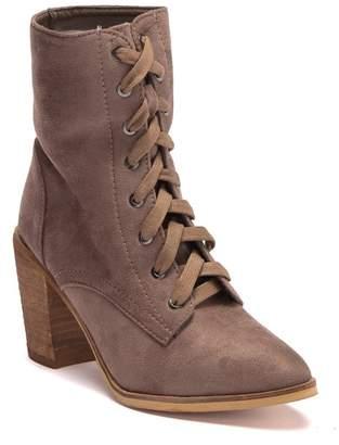 Catherine Malandrino Nancy Lace-Up Block Heel Boot
