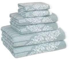 Herringbone Patterned Turkish Cotton Towel/Set of 6