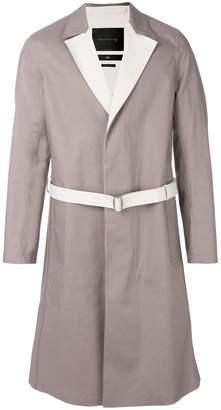 MACKINTOSH 0001 belted single breasted coat