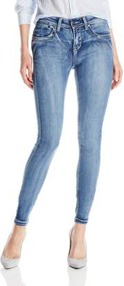 Fly London Lola Jeans Women's Celina 9 Inch Mid Rise Skinny Jeans with Zipper