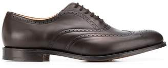 Church's pointed toe patterned brogues