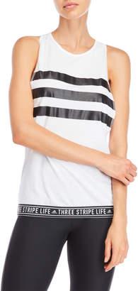 adidas Stripe Muscle Tee