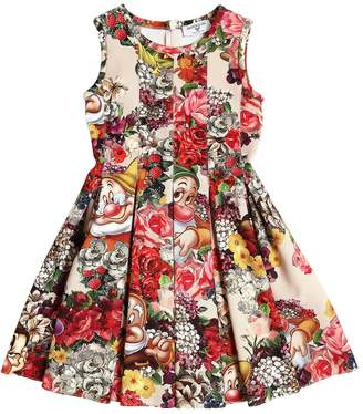 MonnaLisa Seven Dwarfs Printed Neoprene Dress