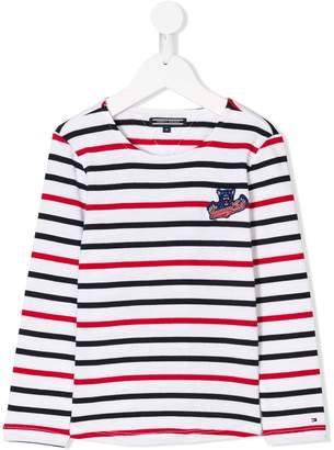 Tommy Hilfiger Junior long-sleeve striped T-shirt