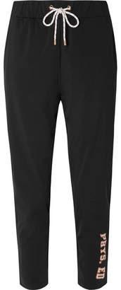 P.E Nation Phys Ed Printed Stretch-jersey Track Pants - Black