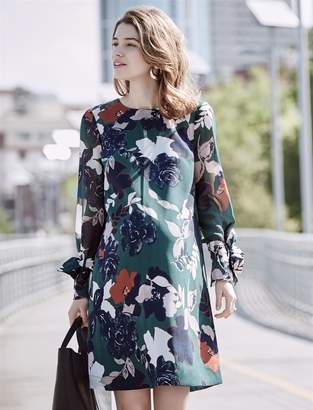 A Pea in the Pod Tie Sleeve Floral Maternity Dress