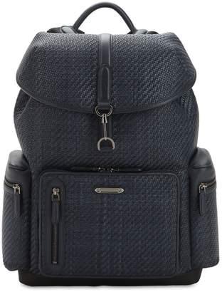 Ermenegildo Zegna Woven Leather Backpack