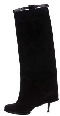 Givenchy Suede Foldover Boots