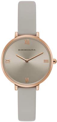 BCBGMAXAZRIA Ladies Grey Strap Watch with Grey Dial, 34MM