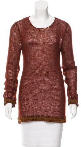 ChanelChanel Open Knit Cashmere Sweater