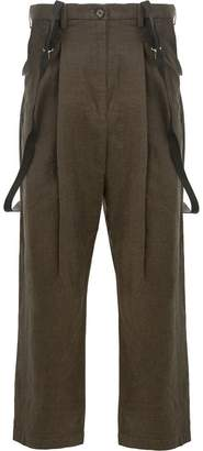 Miharayasuhiro tapered trousers with straps
