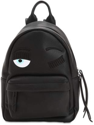 Chiara Ferragni Flirting Eye Faux Leather Backpack