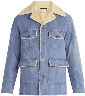 Gucci Faux-shearling denim jacket