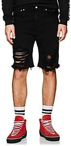 Stampd MEN'S DISTRESSED DENIM SHORTS