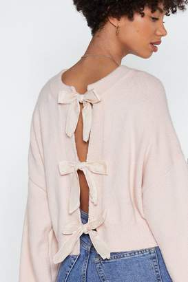 Nasty Gal You Can't Bow Wrong Blouson Sweater