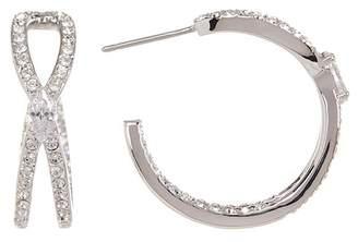 Nadri Intertwined CZ 22mm Hoop Earrings