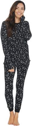 Anybody AnyBody Cozy Knit Waffle Printed Pajama Set