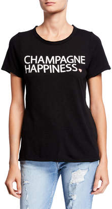 Chaser Champagne Happiness Short-Sleeve Graphic Tee