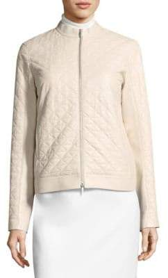 Lafayette 148 New York Becks Leather Moto Jacket