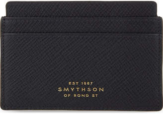 Smythson Panama cross-grain leather card holder