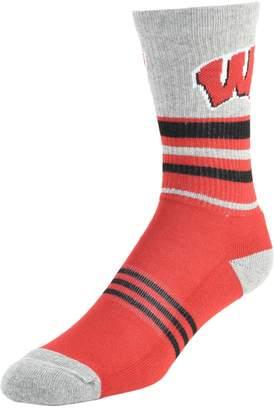 NCAA Men's Mojo Wisconsin Badgers Walk the Line Crew Socks