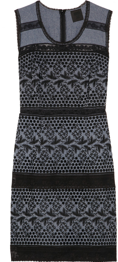 Anna Sui Chambray eyelet dress