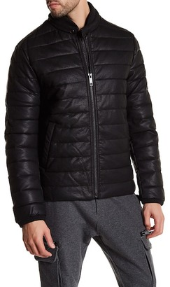 Antony Morato Padded Faux Leather Zip Jacket $480 thestylecure.com