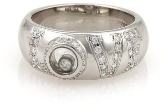 ChopardChopard 18K White Gold Happy Diamond Floating Diamond Dome Band Ring Size 7
