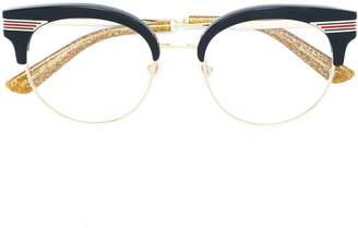 Gucci Web wayfarer glasses