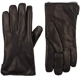 Barneys New York Men's Fur-Lined Gloves