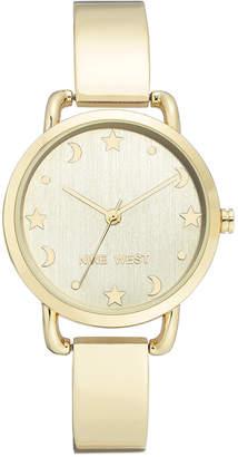 Nine West Women's Gold-Tone Bangle Bracelet Watch 34mm
