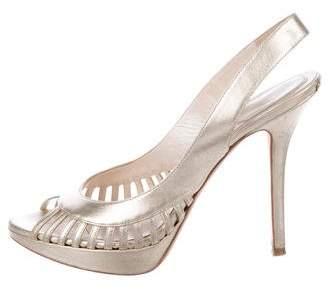 Christian Dior Metallic Slingback Sandals