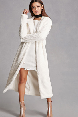 FOREVER 21+ Fuzzy Faux Fur Coat $35 thestylecure.com