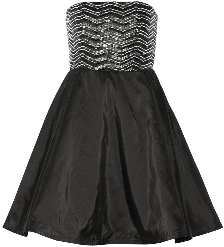 Alice + Olivia Maeve embellished silk mini dress