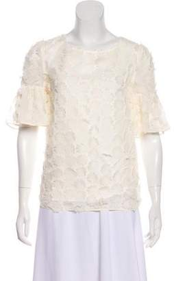 ALICE by Temperley Embellished Short Sleeve Top